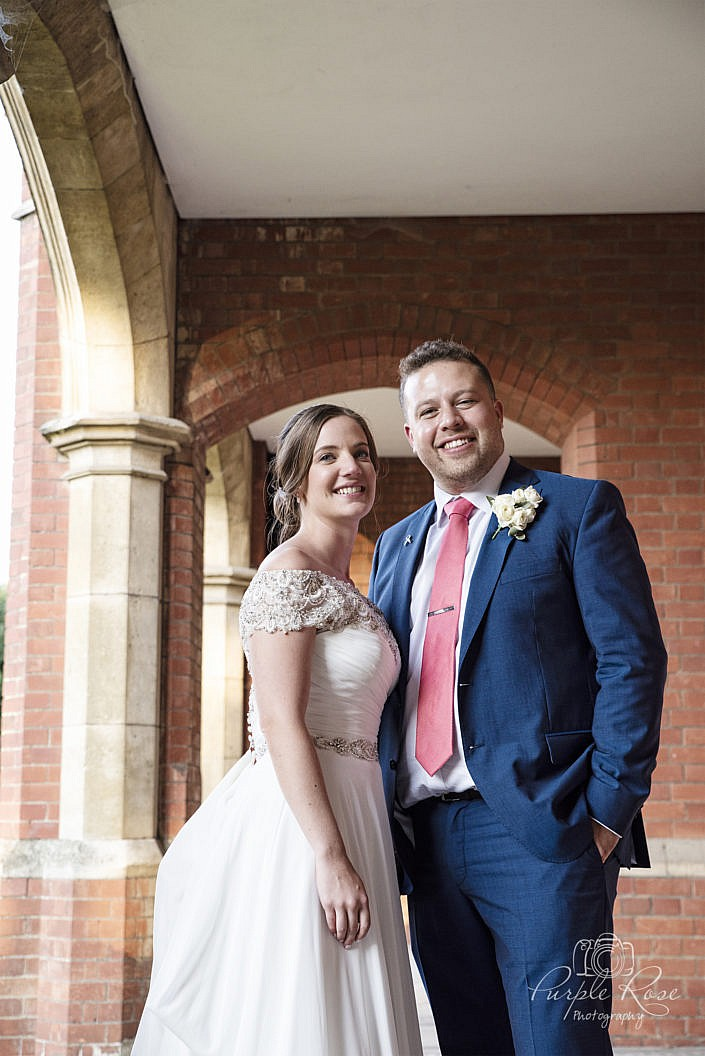 Wedding couples portrait at Bedford School 3