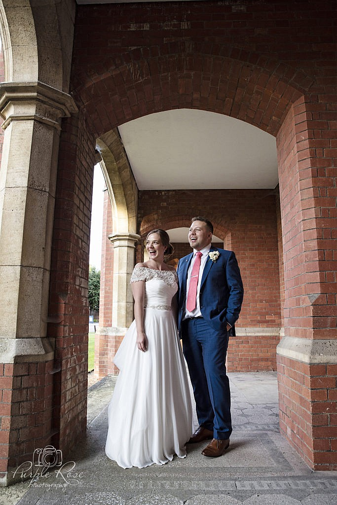 Wedding couples portrait at Bedford School 2