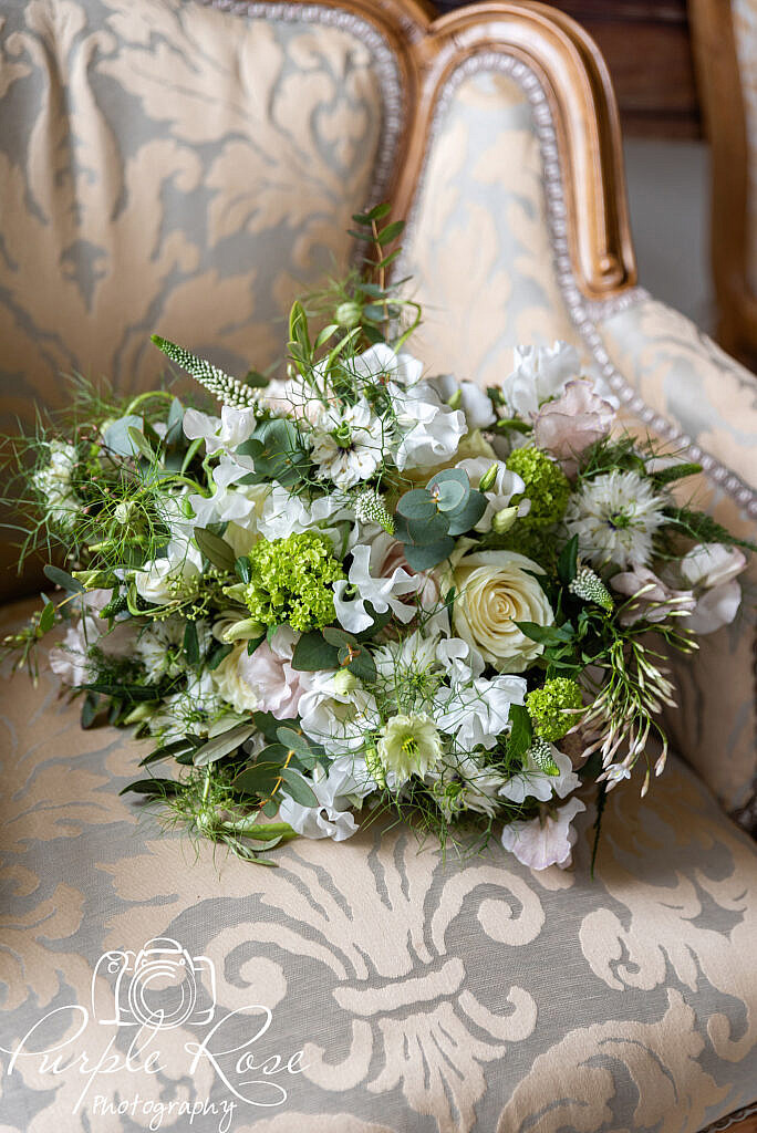 Bridal Bouquet on a chair