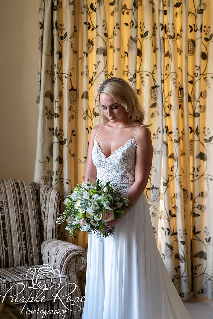 Bride waiting in the bridal suite