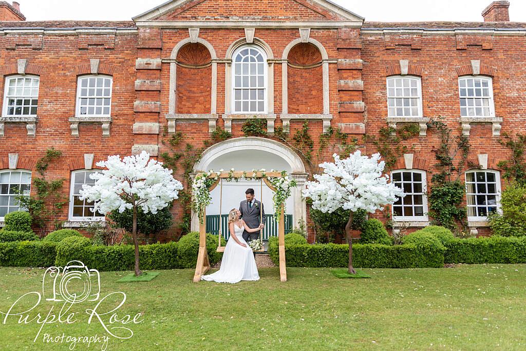 Wedding venues garden swing
