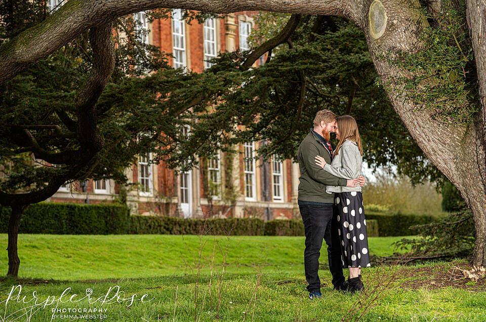 Natasha & Stefan's Pre-wedding engagement photoshoot at Chicheley Hall