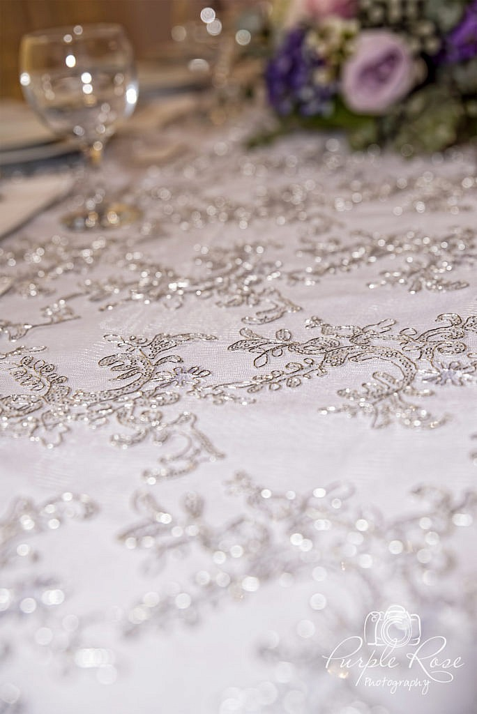Photo of a sequined table cloth