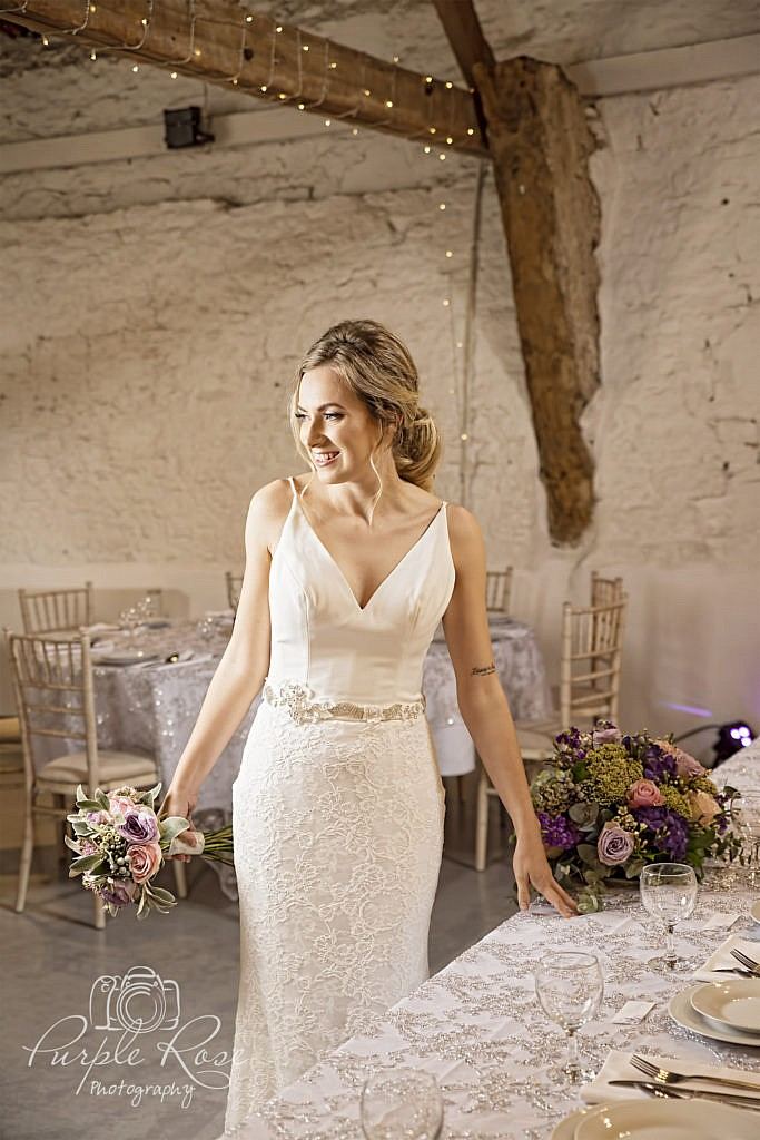Bride in her wedding venue