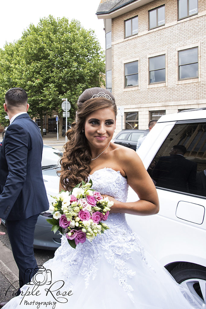 Bride preparing to go to the church