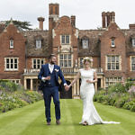 Bride and Groom at Longstowe Hall
