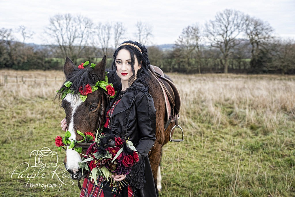 Gothic lady with her horse