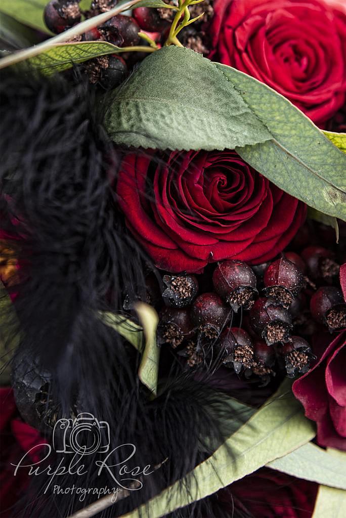 Black 7 Red Wedding bouquet