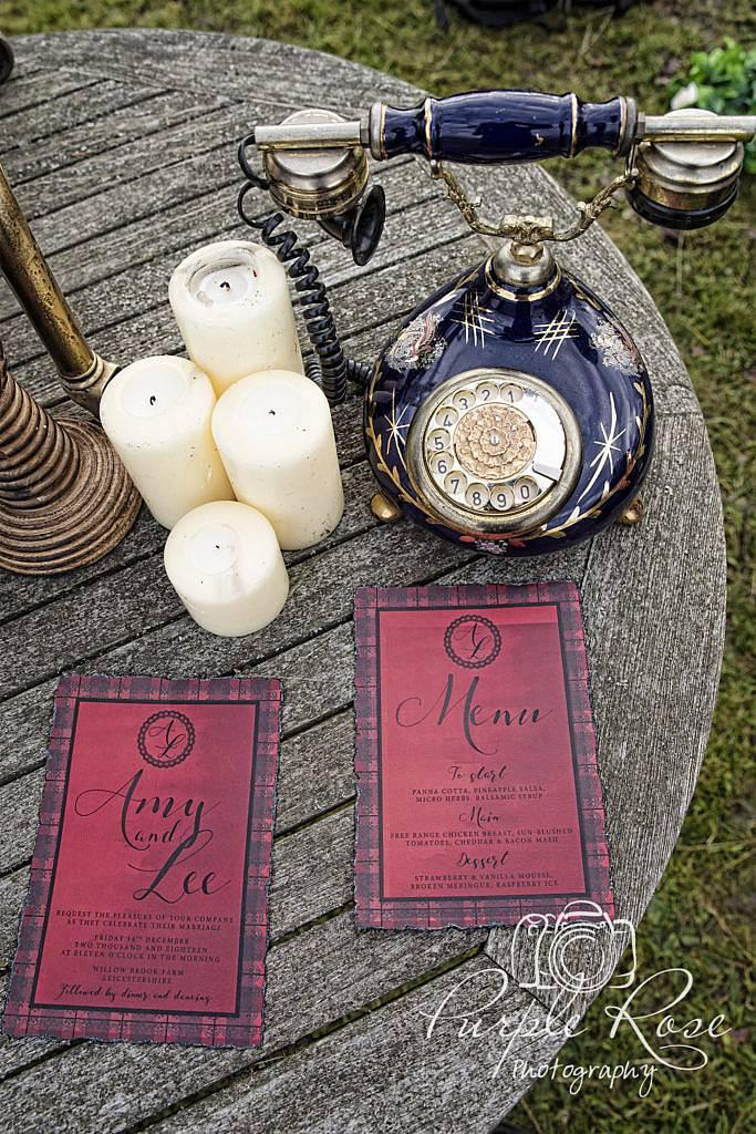Gothic wedding stationary