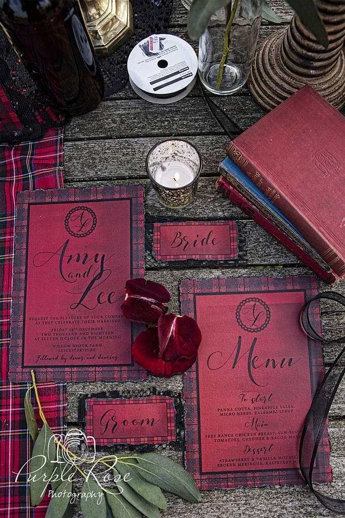 Gothic wedding stationery
