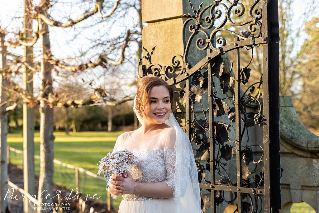 bride lit by golden light