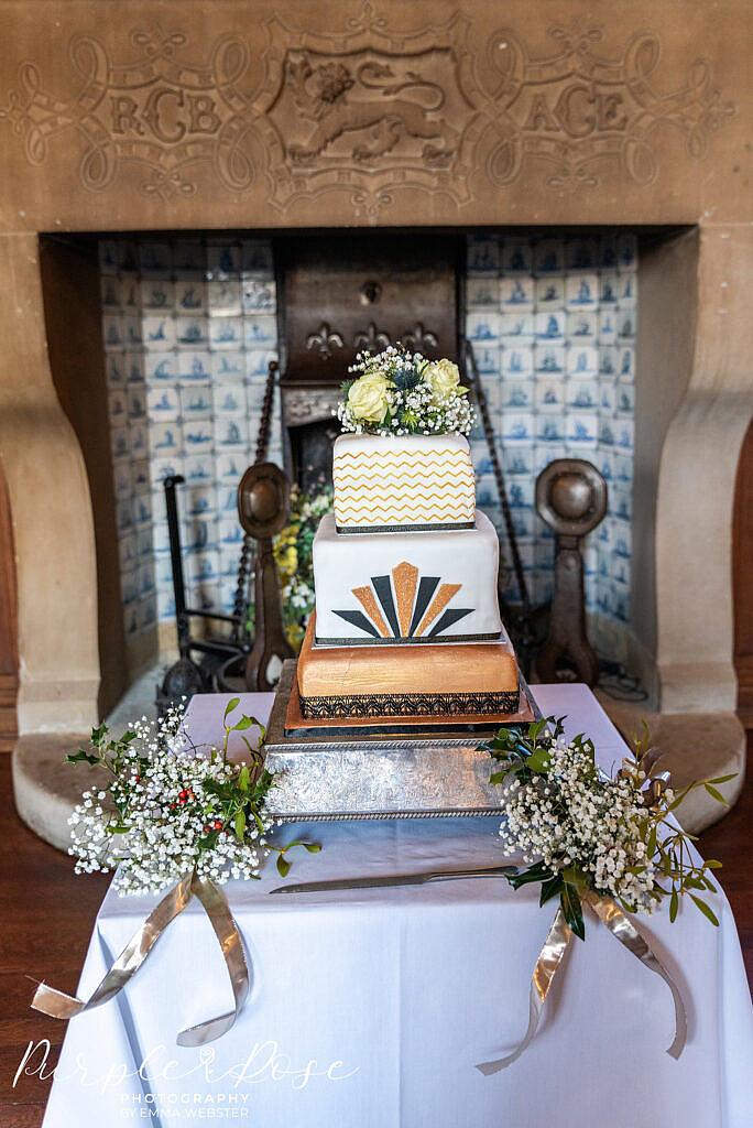 Gatsby themed wedding cake