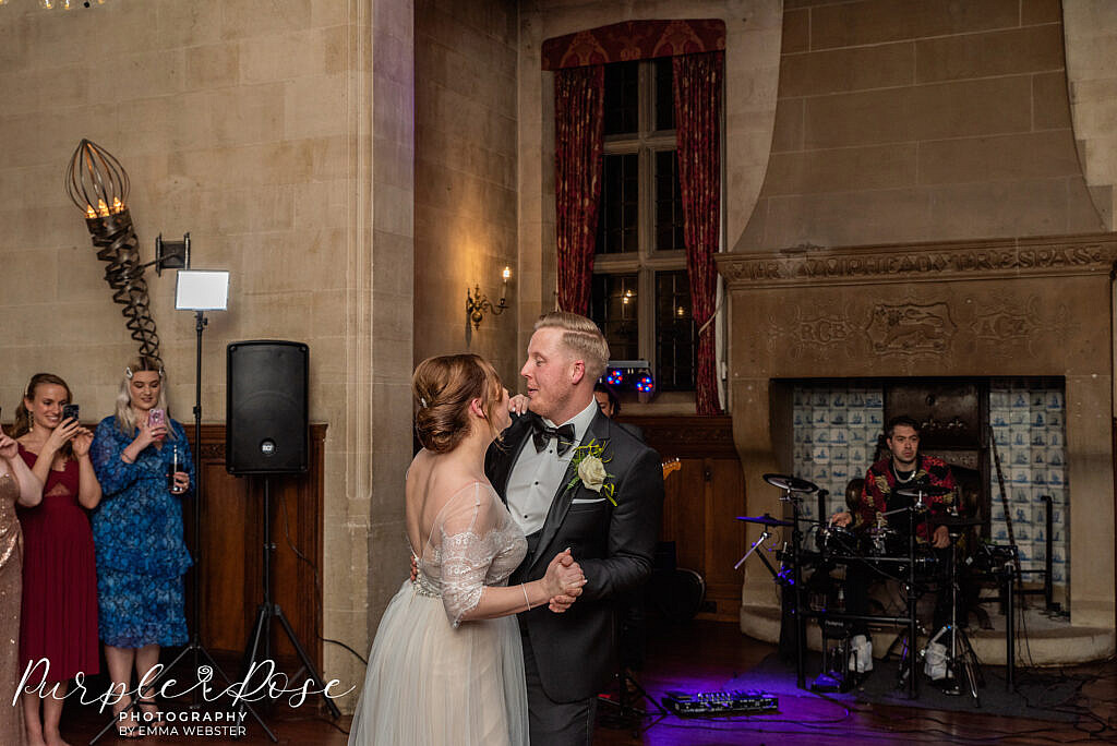 Bride and grooms first dance as a married couple