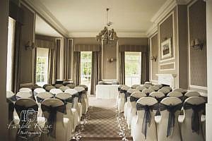 Photo of wedding ceremony room