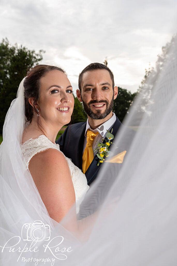 brides veil swooping