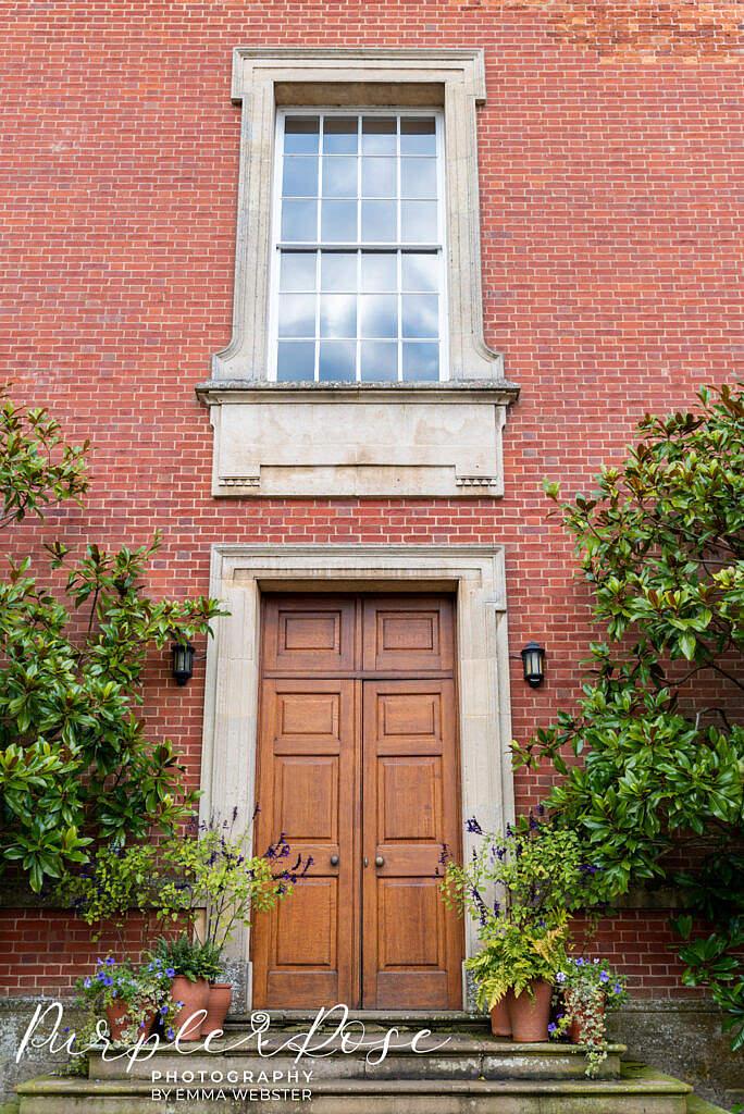 Side entrance at Kelmarsh Hall Northampton