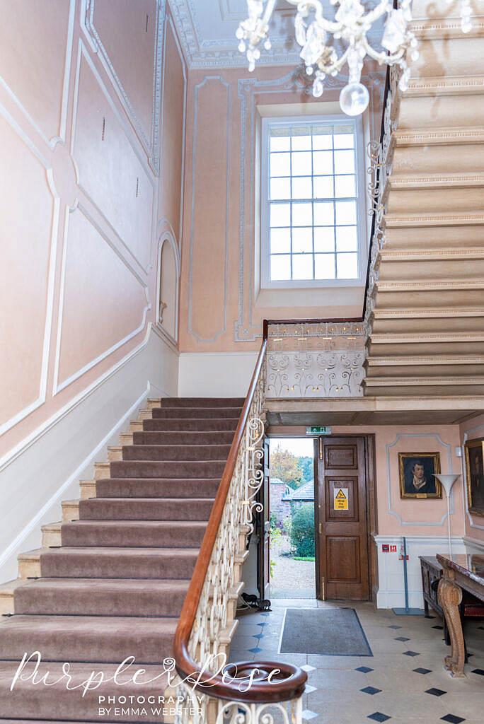 Staircase in Kelmarsh Hall Northampton