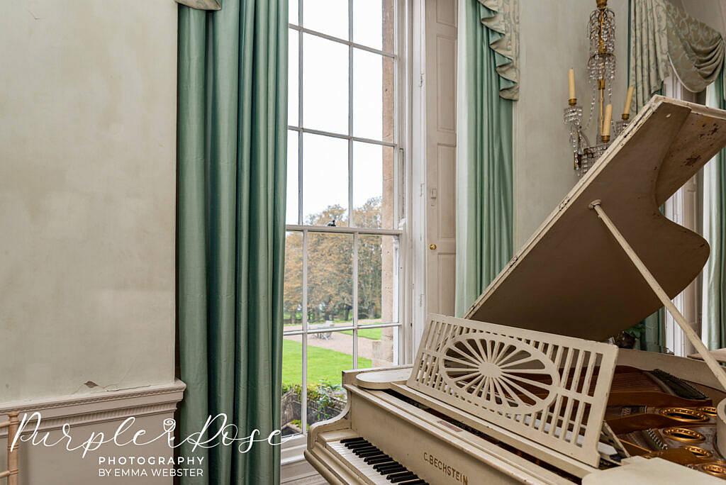 Piano in Kelmarsh Hall Northampton