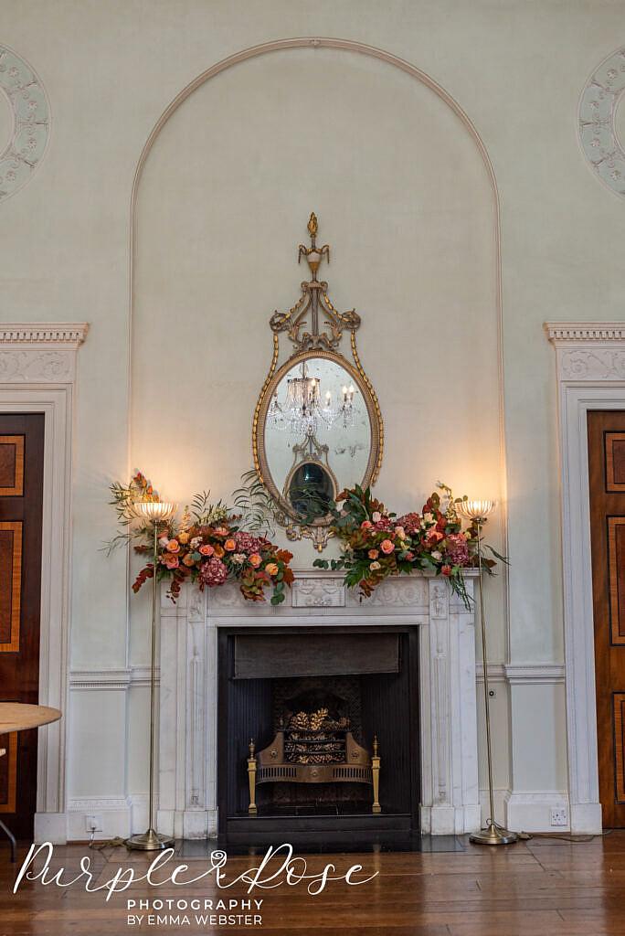 Fire place at Kelmarsh Hall Northampton