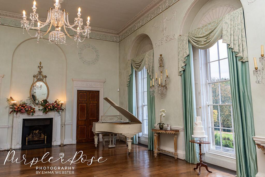 Stunning wedding reception room in Kelmarsh Hall Northampton