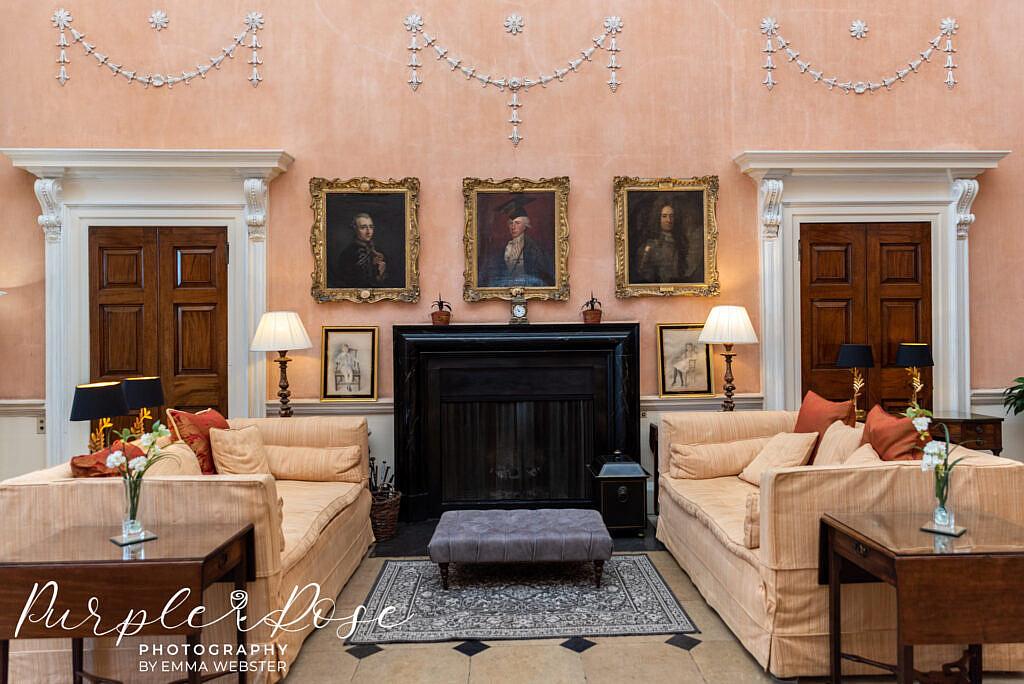 Sitting are in Kelmarsh Hall Northampton