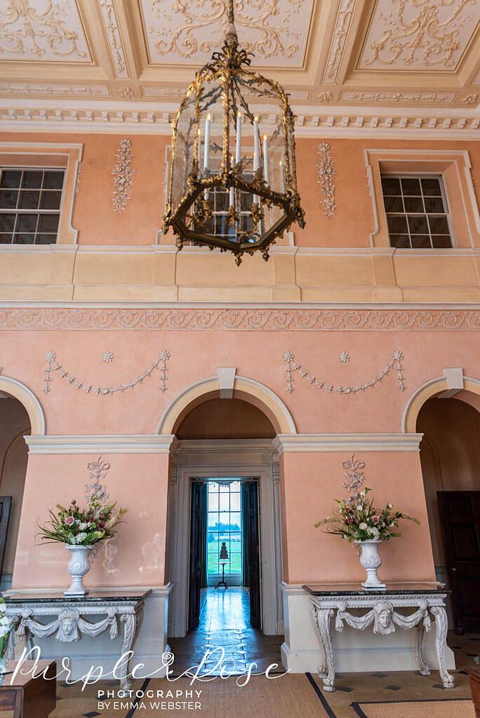 Entrance Hall in Kelmarsh Hall Northampton