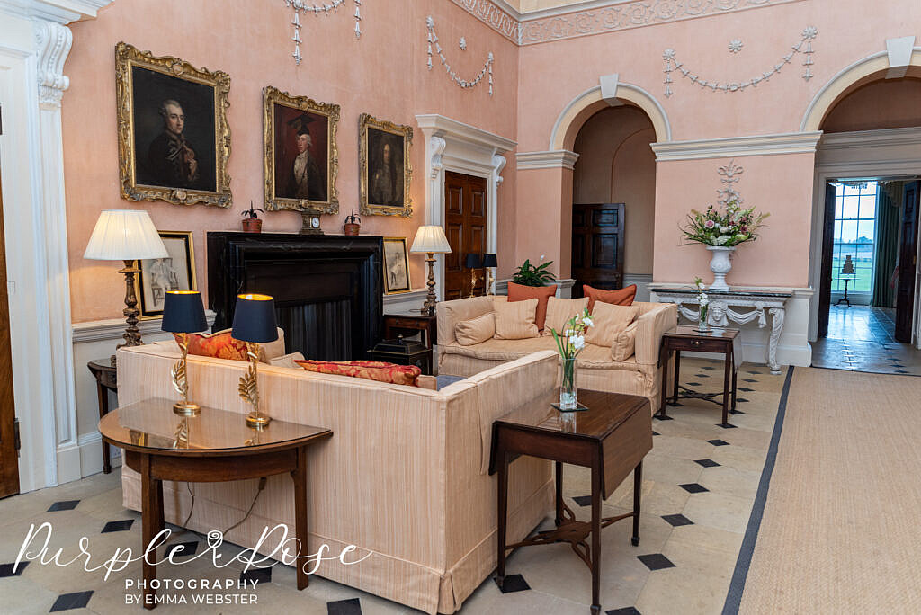 Seating are for guests at Kelmasrh hall Northampton