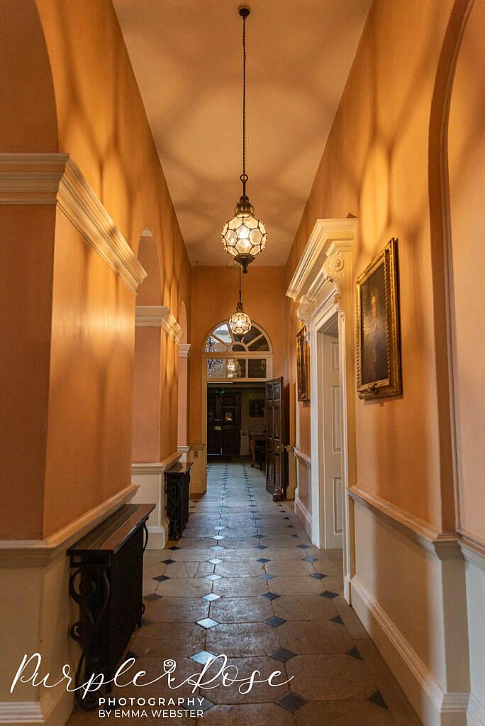 Stunning hallway in Kelmarsh Hall Northampton