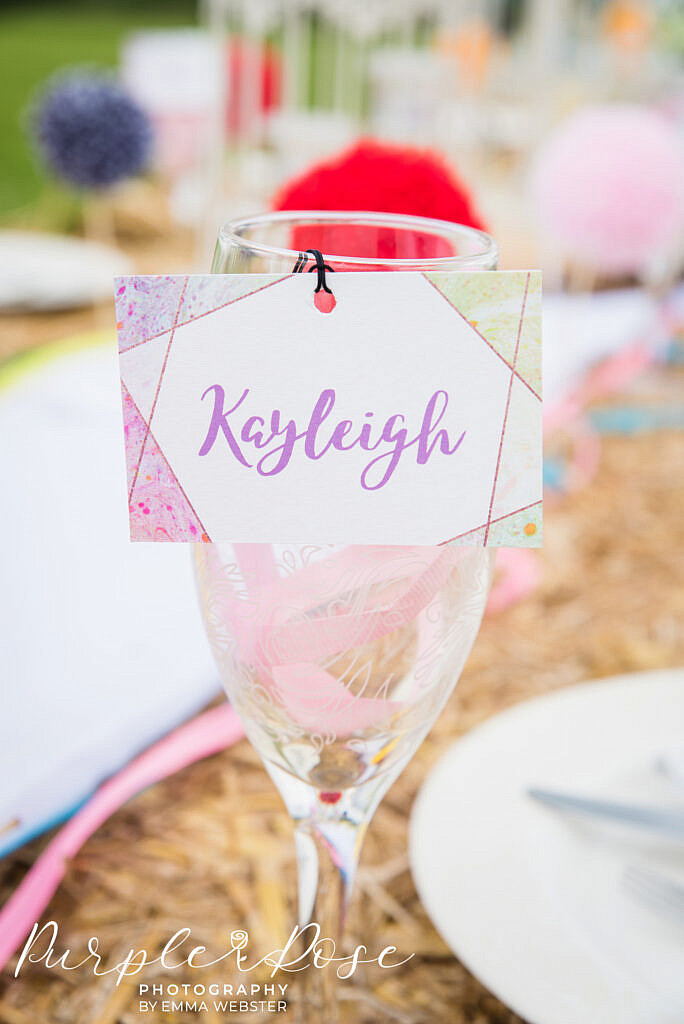 Wedding guest name label