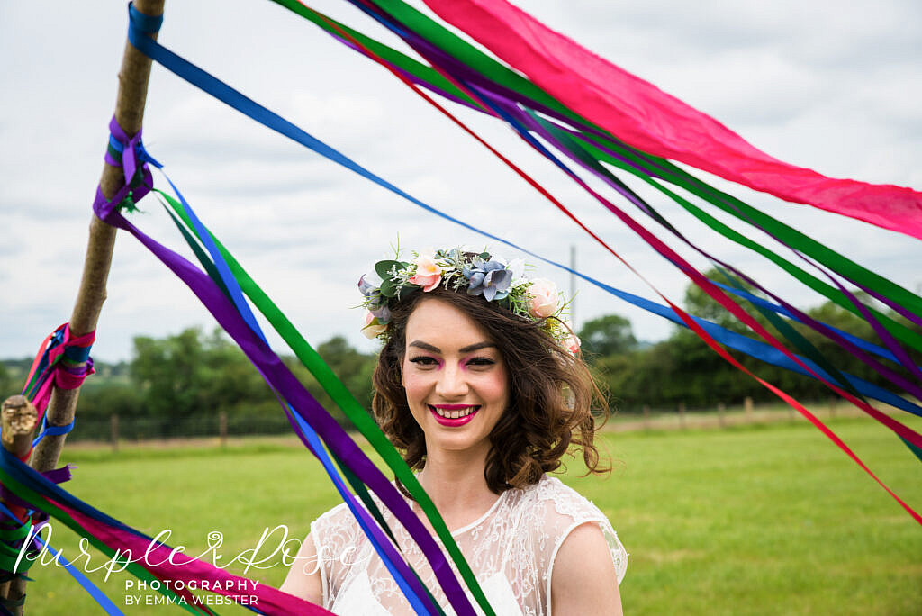 Ribbons swaying in the breeze