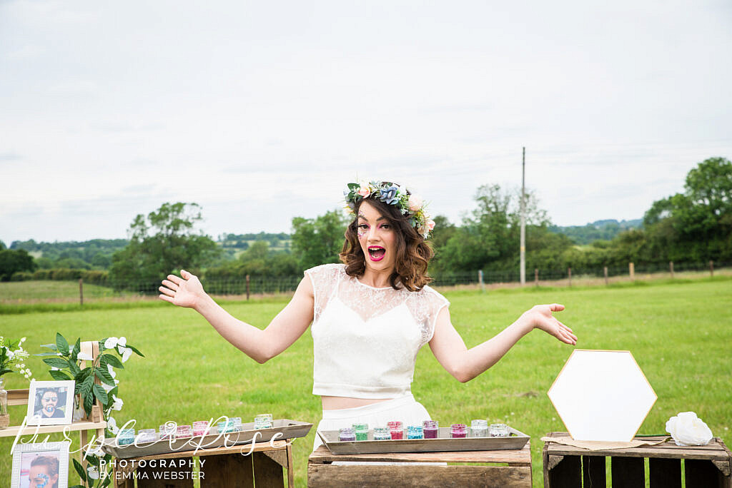 Bride being silly