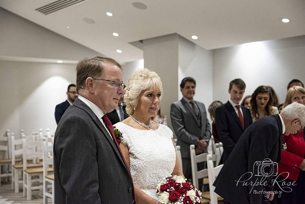 Bride & Groom during their wedding ceremony