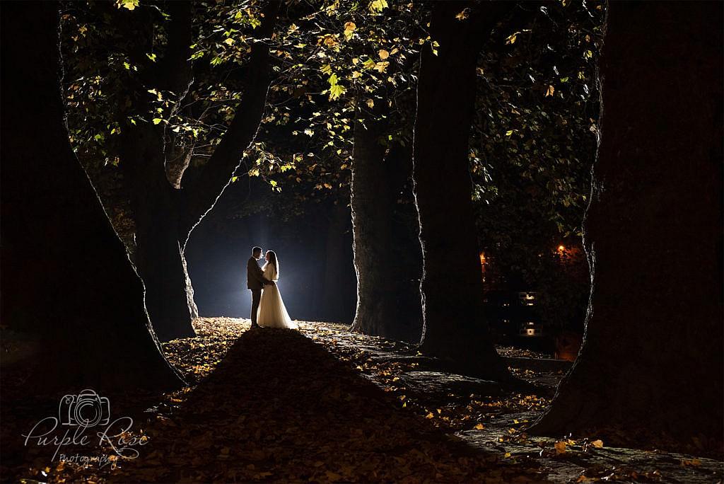Nigh time wedding photo