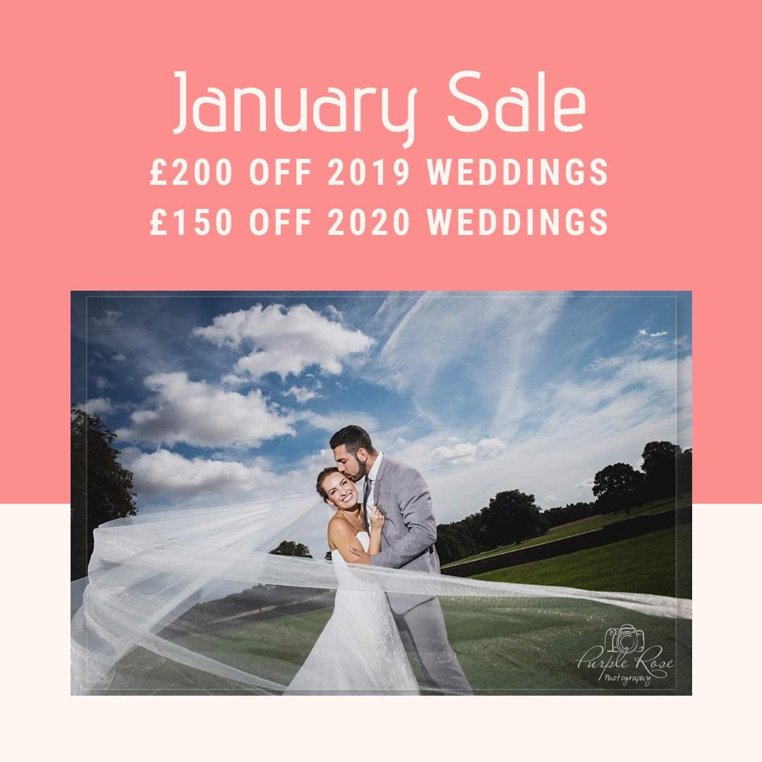 Wedding photography sale advert