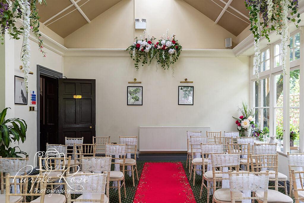 Ceremony room at Woodlands Manor Bedford
