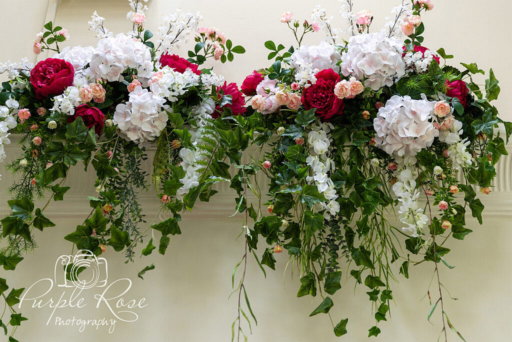 Artificial wall flower display
