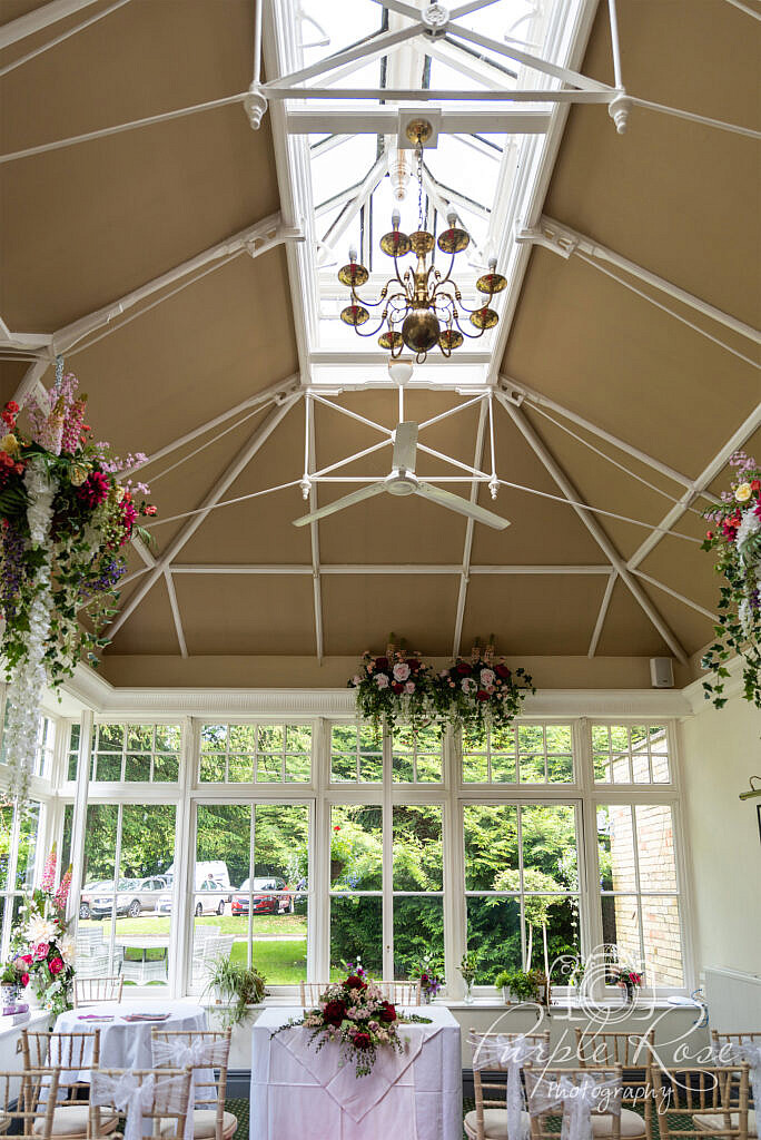 View of wedding ceremony room Woodlands manor Bedford