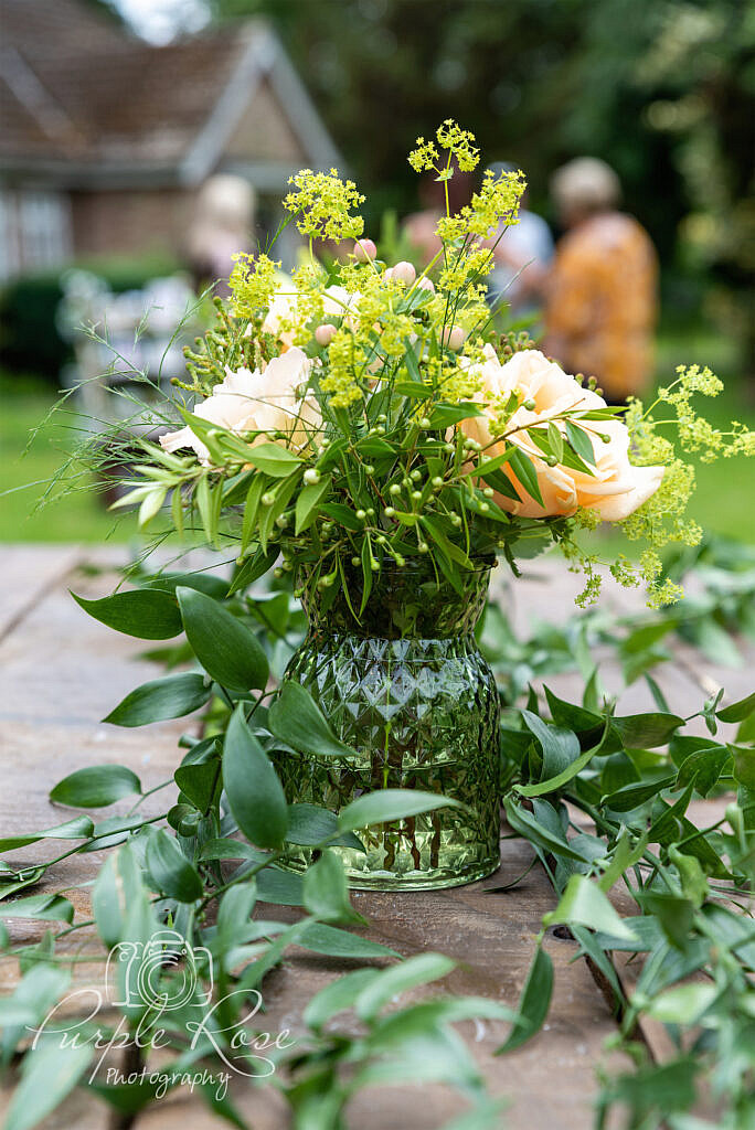 Wedding center piece floral display