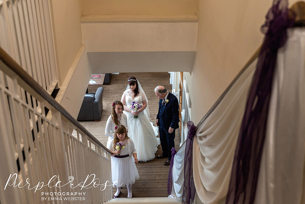 bride waiting to head to her wedding ceremony
