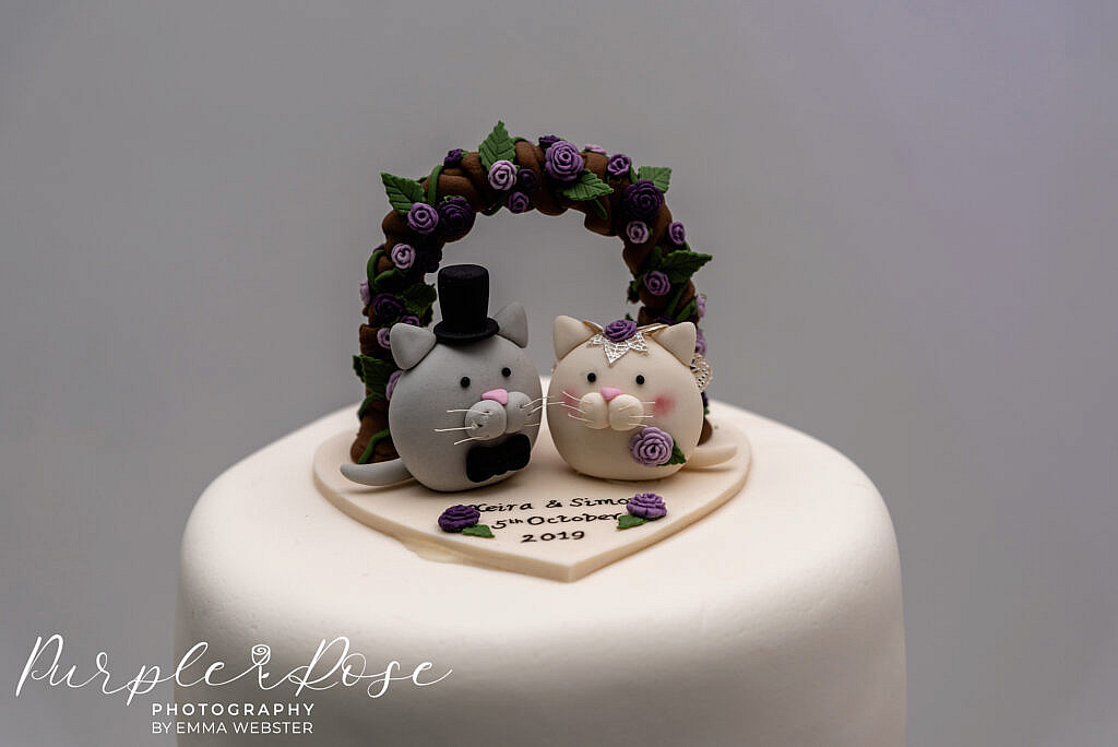 Cat wedding cake topper