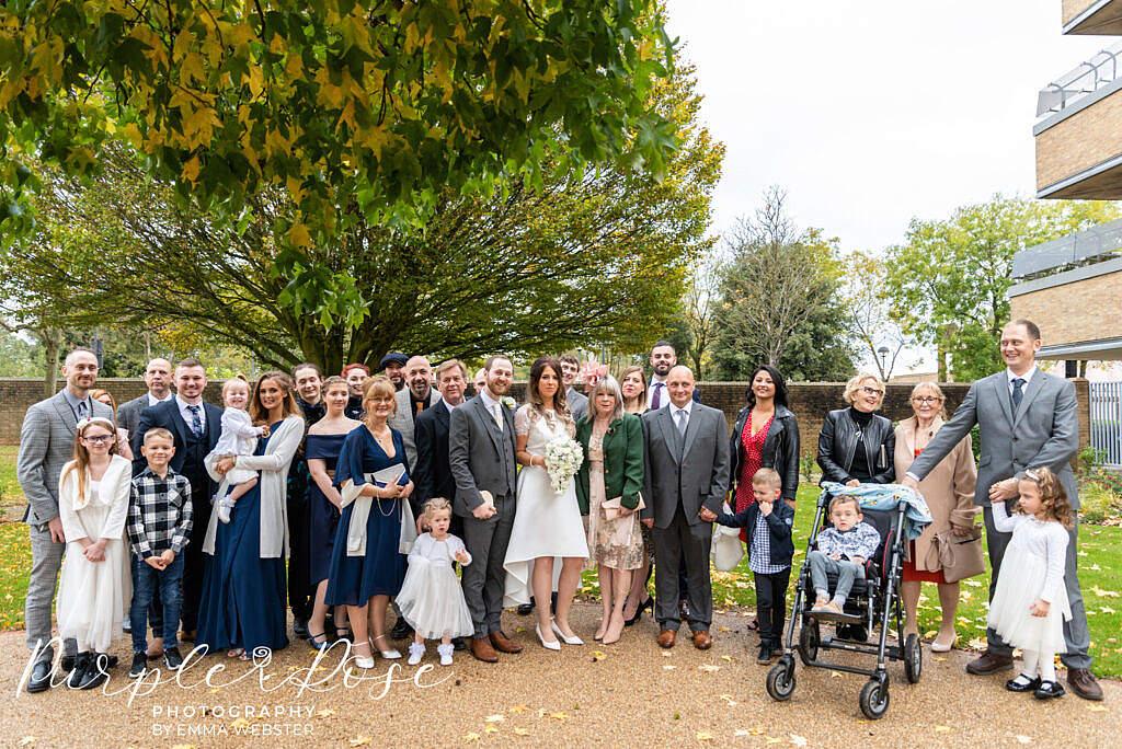 Big group wedding photo