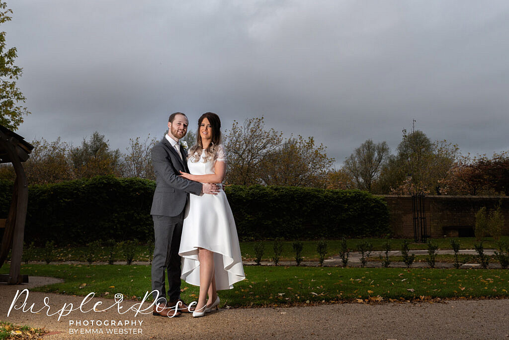 Nride and groom at the registry office