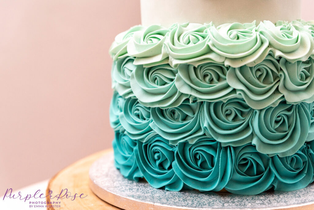 Detail of decoration on a wedding cake