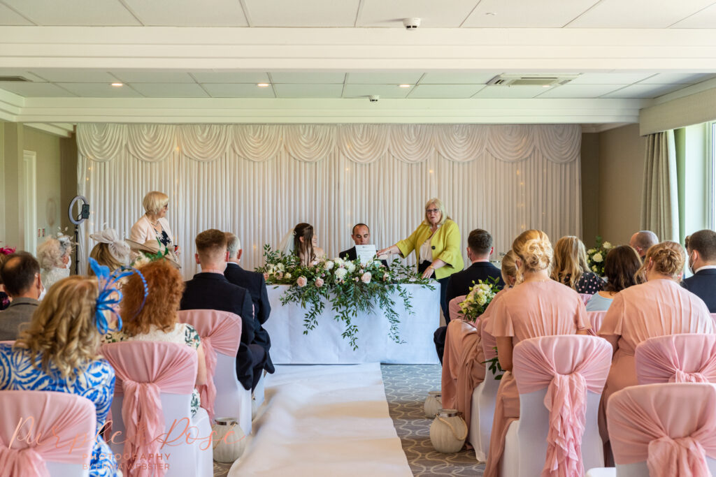 Ceremony room at Hellidon lakes