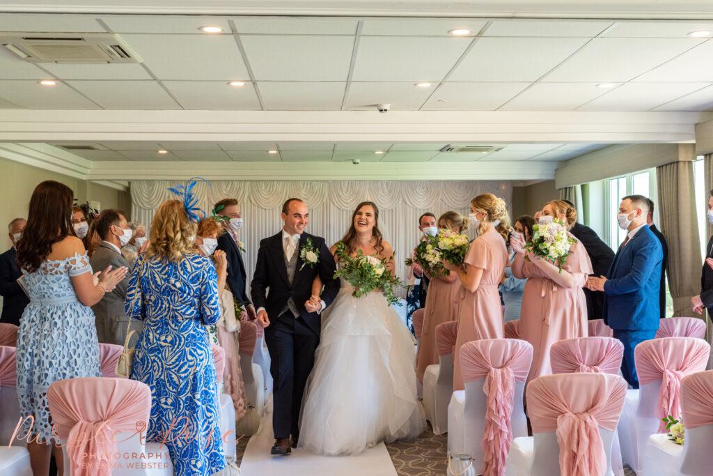 Wedding ceremony at Hellidon lakes