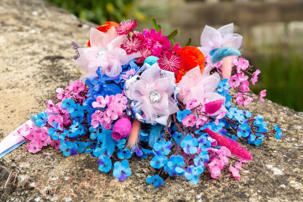 Brides artificial flower bouquet